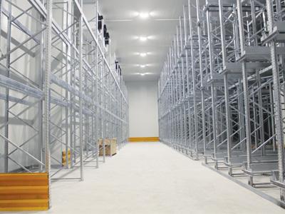 Industrial Cold Storage Room Shelves